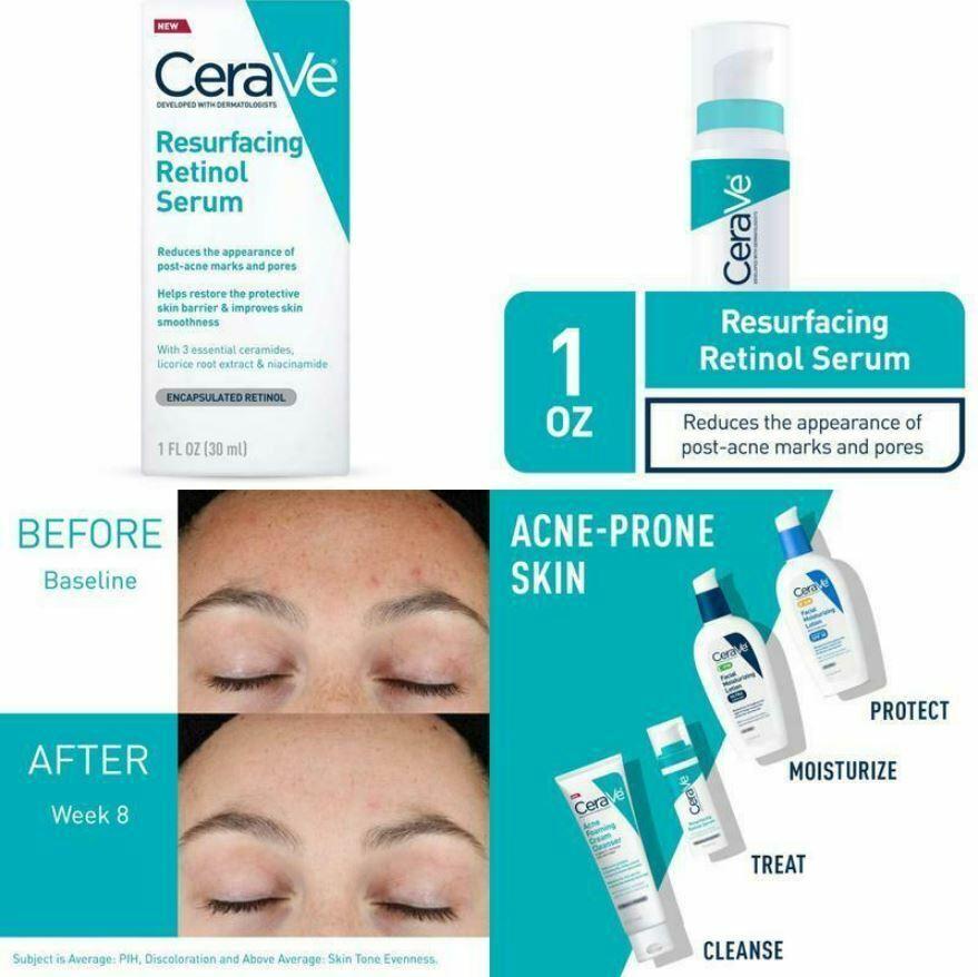 cerave retinol serum for post acne marks