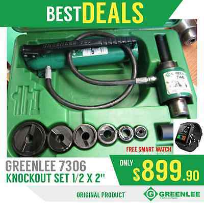 Greenlee 7306 Sb Knockout Set 12 X 2 Good Condition Free Watch Fast Ship