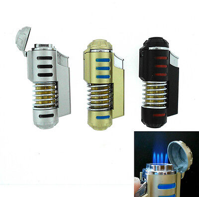 Windproof Refillable Butane Jet Flame Quad Torch Cigarette Lighter-3 Set of 3 on Rummage
