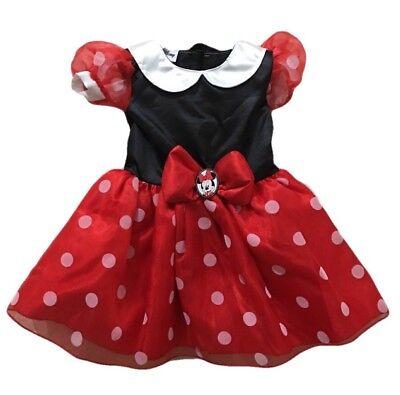 NEW Disney's Minnie Mouse Sz 12-18M Red Classic Halloween Costume w/ Headband