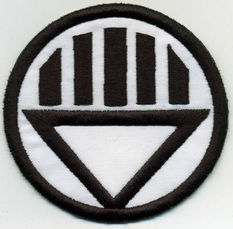 """2.5"""" Black Lantern Corps Classic Style Embroidered Iron-On Patch"""