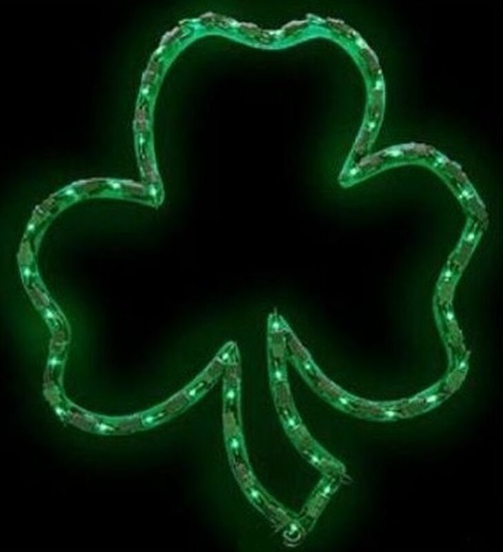 ON SALE St Patricks Day Lighted Shamrock Window Decor - FREE SHIPPING