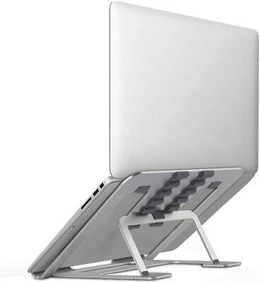 Laptop Stand Portable Adjustable Vertical, Ergonomic Foldable Laptop Riser Stand