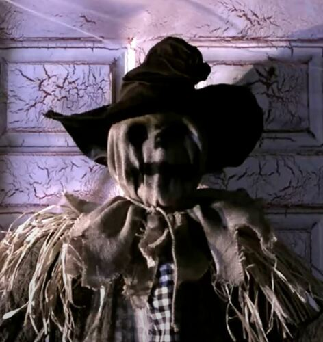 "69"" ANIMATED STANDING SURPRISE SCARECROW Halloween Prop FACE RISES QUICKLY"
