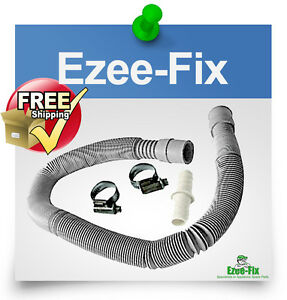 washing machine dishwasher drain waste hose extension kit 2m strech 50 200 cm ebay. Black Bedroom Furniture Sets. Home Design Ideas