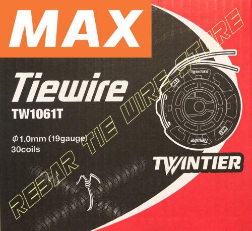 TW1061T MAX REBAR TIEWIRE For RB441T RB611T RB401T-E   - 30 Coils/CASE