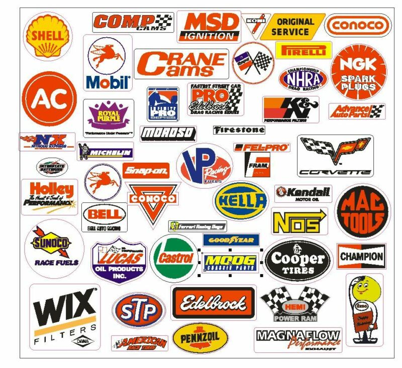 Racing Decals Sticker Assortment Grab Bag For Tool Box Locker Garage Mancave