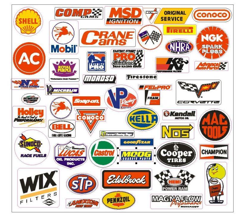 Racing Sticker Set of 26 Grab Bag For Tool Box Locker Nascar Garage Decal