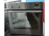 BB197 stainless steel indesit single electric oven comes with warranty can be delivered or collected