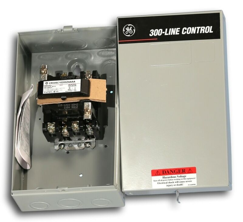 CR305C102 Enclosed Size 1 General Electric Magnetic Contactors 115-120V Coil