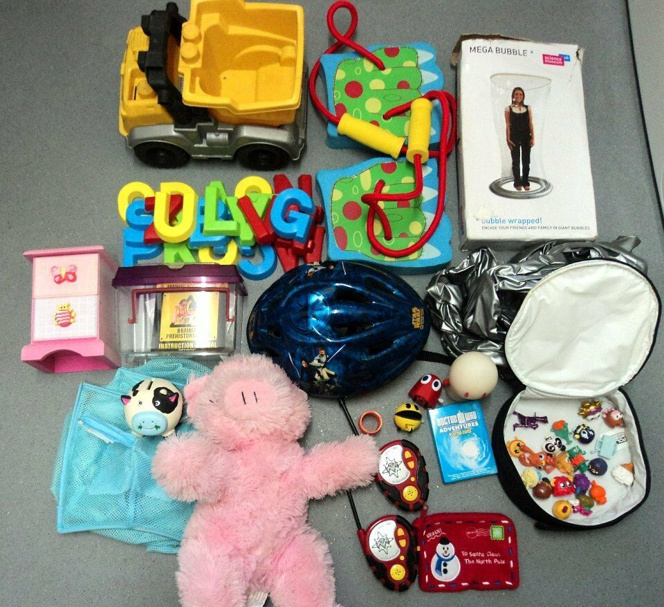 Childrens/ kids LOT OF Toys Indoor/Outdoor Moshi Monster/star wars Cycle helmet/walkie talkies etc
