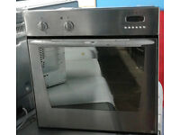 q197 stainless steel indesit single electric oven comes with warranty can be delivered or collected