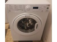 455 white hotpoint 7kg 1400spin washing machine comes with warranty can be delivered or collected