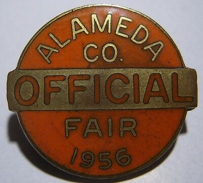 1956 Alameda County, California State Fair Official Badge