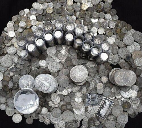 SILVER US COINS .999 PURE SILVER BARS BULLION MASSIVE ESTATE SALE COIN MIXED LOT