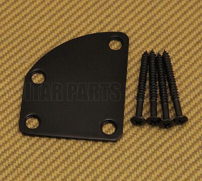Engraved Guitar Neck Joint Heel Plate Standard 4 Bolt BLACK #2031