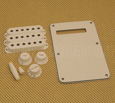 099-1395-000 Genuine Fender Parchment Strat Knob & Cover Accessory Kit