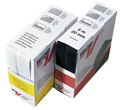Velcro 'Haken und Flausch' - schwarz 5 m Selbstklebend
