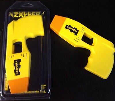 Yellow Halloween Costume Police Zapper TOY Taser Stun Gun w/ Lights & Sound - Phone Halloween Costume