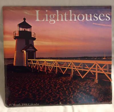2006 LIGHTHOUSES 16 Month Wall Calendar Sealed NIP Ocean Seaside Studio 18 (Studio 18 Calendars)