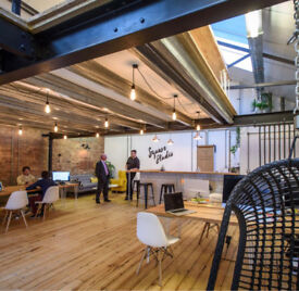 Hot desk space to rent in a creative co-working space | Bristol