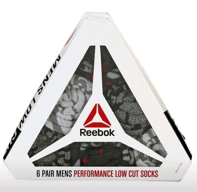 MENS LOW CUT REEBOK CROSSFIT SOCK SET 6 PAIR NEW GIFT SET