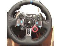Logitech g29 steering wheel and gearstick