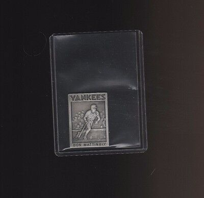 1986 Topps Gallery Of Champions Pewter Don Mattingly Yankees