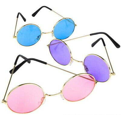 Halloween ROUND COLOR LENS SUNGLASSES John Lennon Bulk Wholesale New (Wholesale Round Sunglasses)