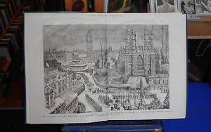 The Graphic London Illustrated Newspaper - Jubilee - Great View of Westminster