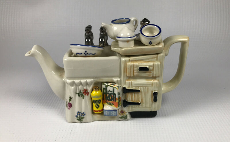Vintage Made in England Paul Cardew Mini Kitchen Sink Teapot