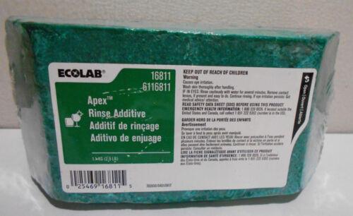 1 New ECOLAB Apex Rinse Additive 6116811 2.5 LB