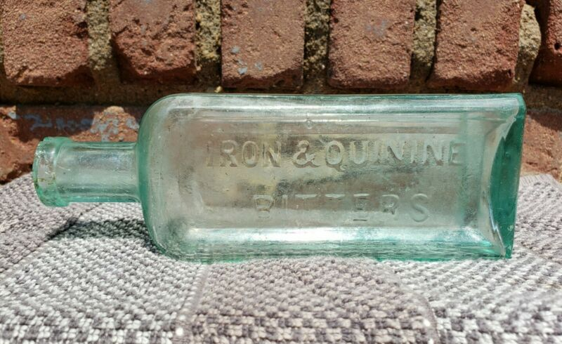 AWESOME Antique Iron & Quinine Bitters N.K. Brown Apothecary Medicine Bottle!!!