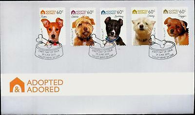 "2010 FDC Australia. Adopted, Adored. P&S. ""Dog Bowl"" Pict.FDI  ""TAILEM BEND"""