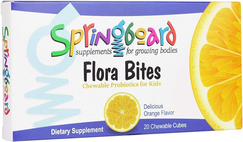 Ortho Molecular Flora Bites Probiotic Formula for Children - 20 Chewable Cubes 1