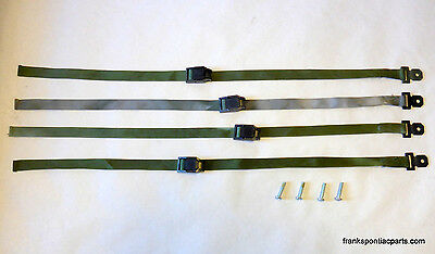 "Cargo Straps Tie Downs (4) 1"" x 3' Camping Off Road Racing Truck Trailer Humvee"