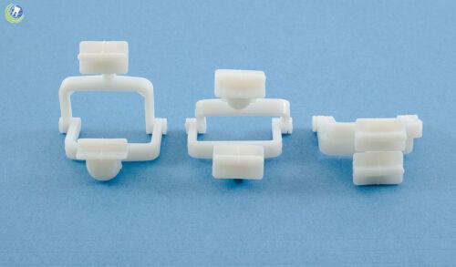 DENTAL LAB MINI PLASTIC DISPOSABLE CROWN AND BRIDGE ARTICULATORS 100PC WHITE