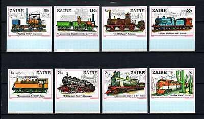 Belgisch Congo Belge Rep du Zaïre n° 992/999 ND MNH Trains Locomotives c20.00Eu