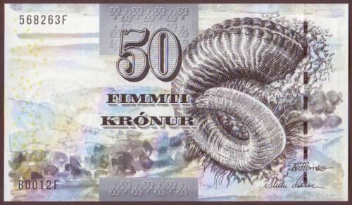 FAEROE / FAROE  ISLANDS   50 Kronur  2001    Gem UNC