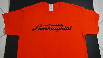 Brand New LAMBORGHINI T-SHIRT LOGO BADGE EMBLEM SPYDER LP610-4 HURACAN ORANGE SV