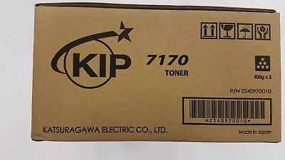 Kip 7170 Genuine Oem Toner Black One 2 X 400g Cartridge