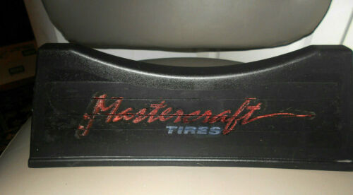 VINTAGE MASTERCRAFT TIRE and WHEEL DISPLAY STAND