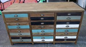 New Rustic Recycled Timber Vintage Reception Shop Counter Storage Melbourne CBD Melbourne City Preview