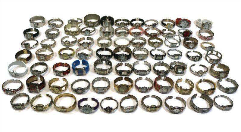 LOT OF 75 VINTAGE HINGED BRACELET CUFF STYLE WATCHES Geneva Vivani