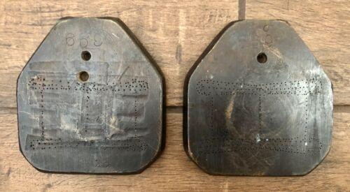 Antique 669 Bronze 2-Piece Belt Buckle Mold