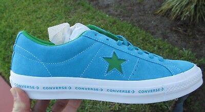 Converse ONE STAR OX  SUEDE HAWAIIAN OCEAN BLUE / GREEN 159813C  SIZE 12 MEN'S