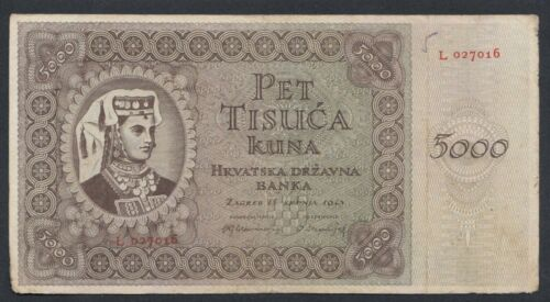 A5949 Croatia 5000 kuna 1943