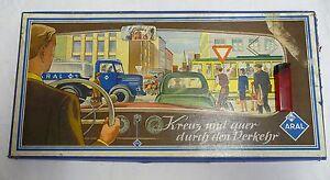Brettspiel BV - Aral Kreuz und quer durch den Verkehr 50er Jahre gez. Bernt Röse