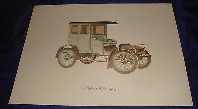 MH191 1905 Baker Electric Vtg Car Auto Color Print
