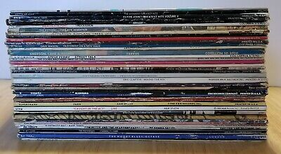 Lot Of 40 Vinyl Albums Supertramp  Petty Moody Blues Stones B-52's CCR Styx ABBA